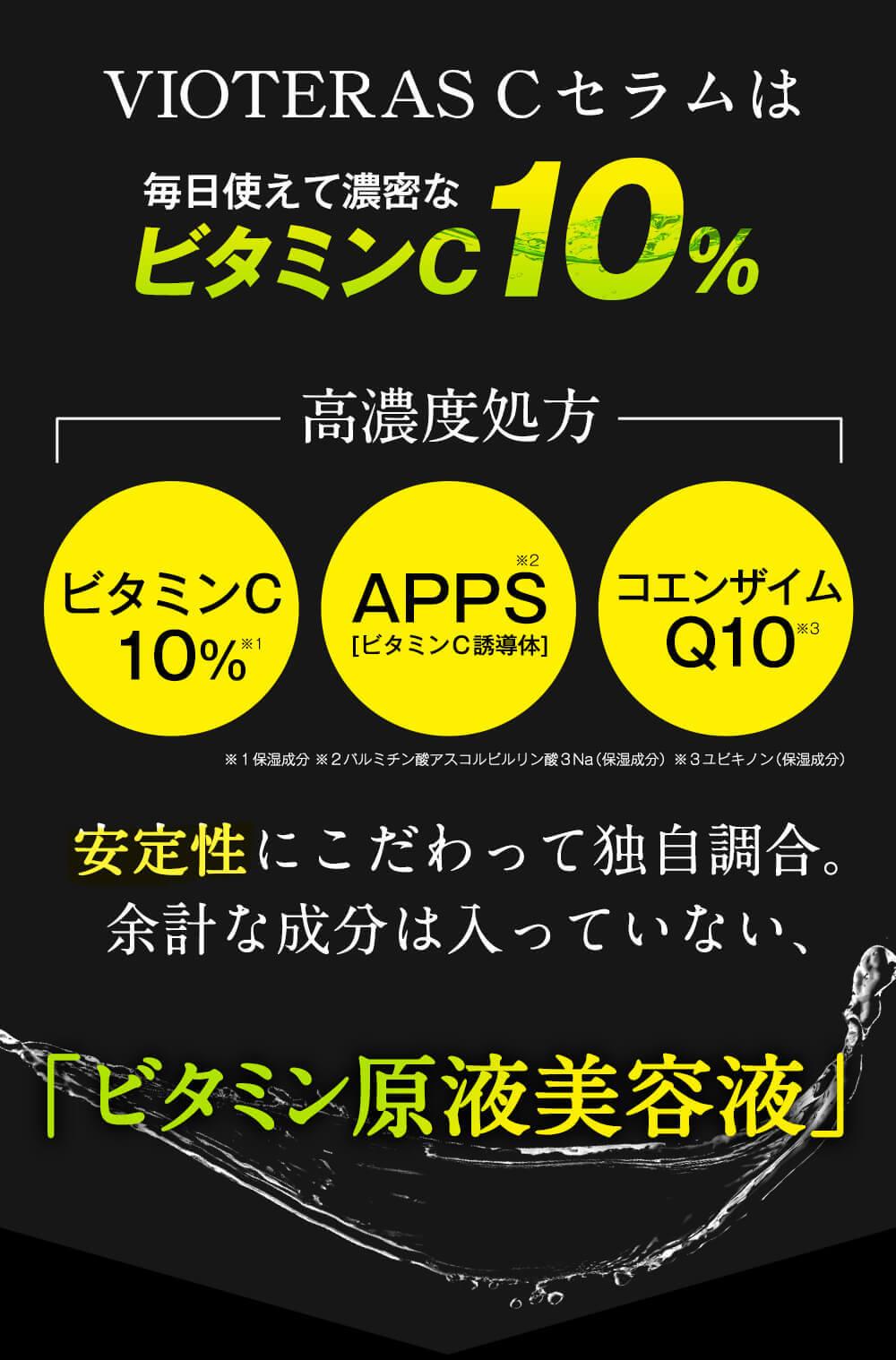 人気のヒミツは「ビタミンC10%」「APPS」「コエンザイムQ10」