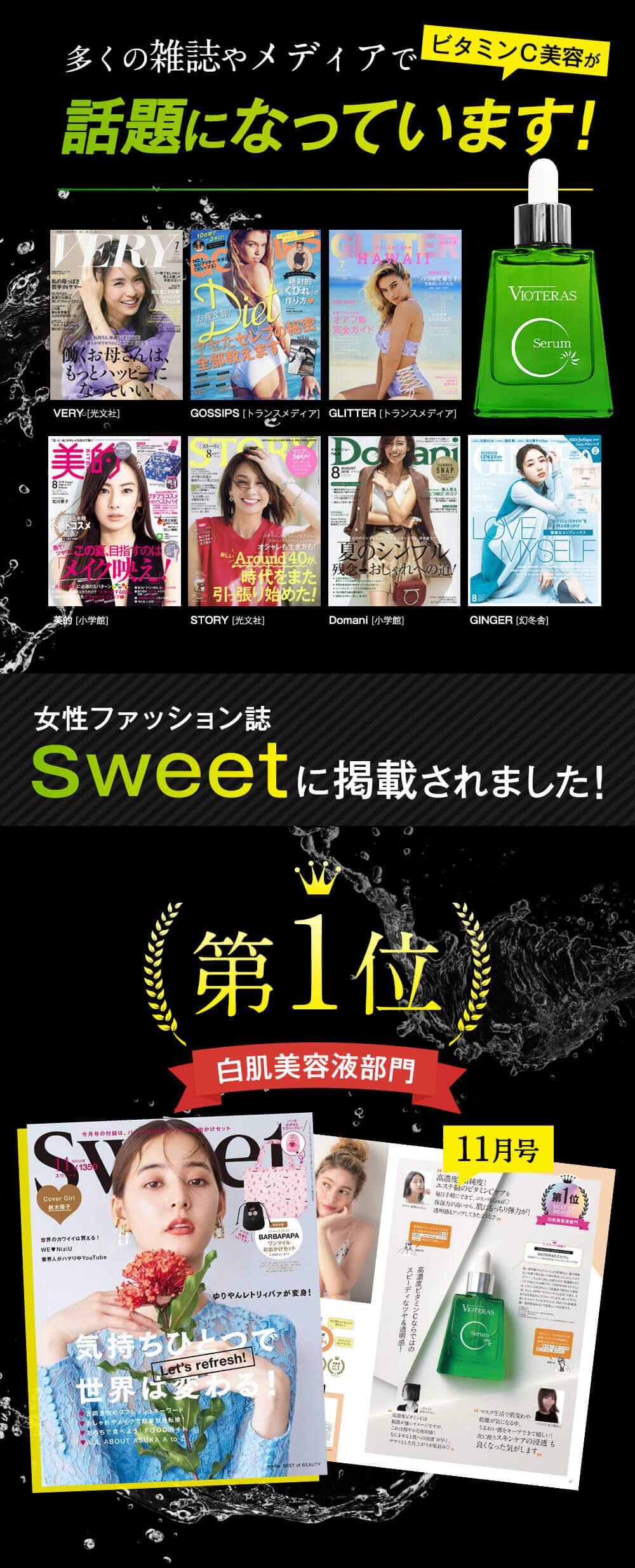 ファッション誌Sweetに掲載されました。