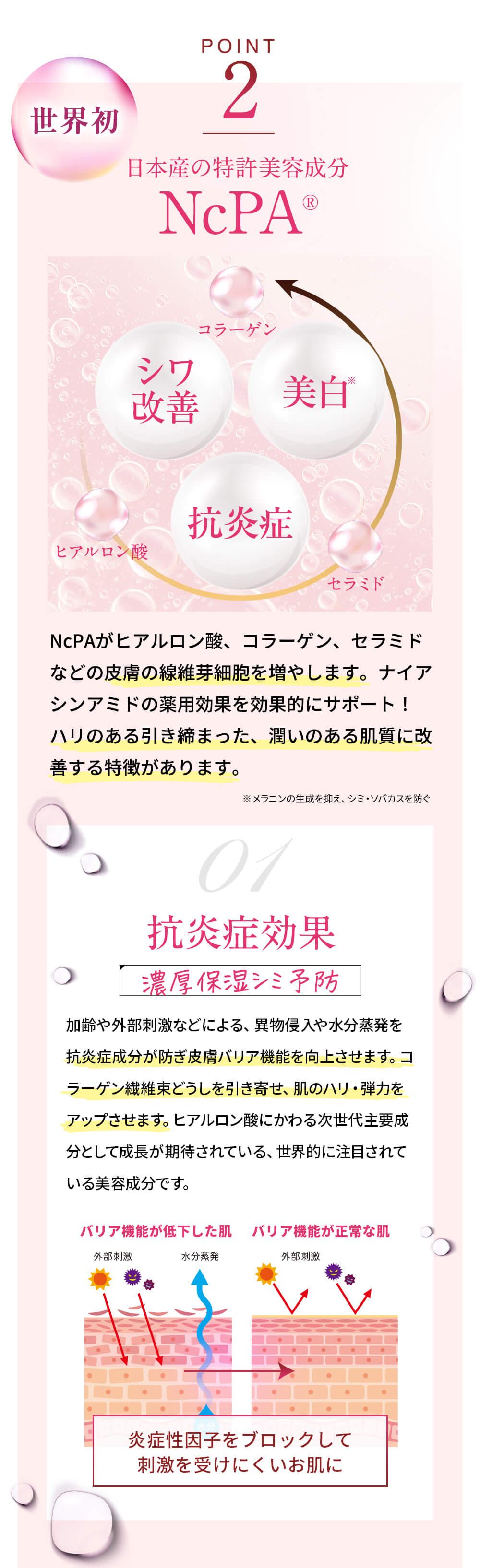 日本産の特許美容成分NcPA